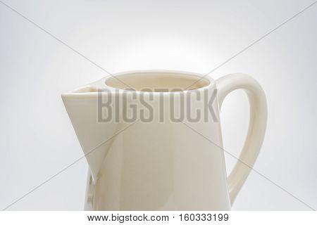 Jug ceramic jug on the white background.