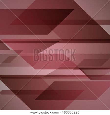 Abstract red background with geometric shapes overlapping, stock vector