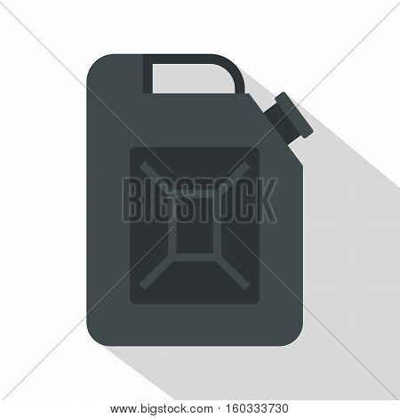 Black jerrycan icon. Flat illustration of black jerrycan vector icon for web isolated on white background