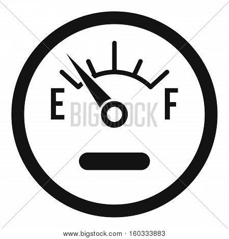 Fuel sensor icon. Simple illustration of fuel sensor vector icon for web