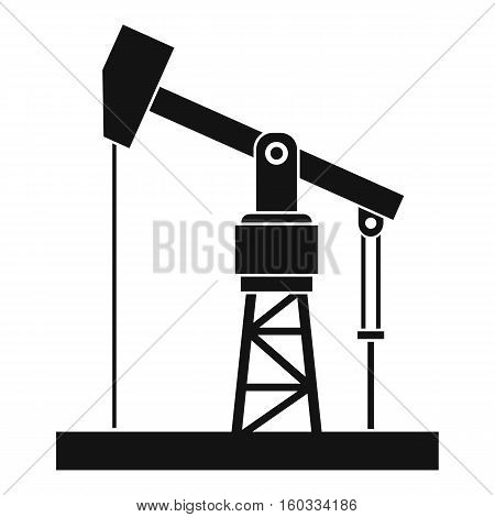 Oil pump icon. Simple illustration of oil pump vector icon for web
