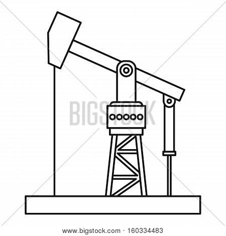 Oil pumpjack icon. Outline illustration of oil pumpjack vector icon for webicon. Outline illustration of vector icon for web