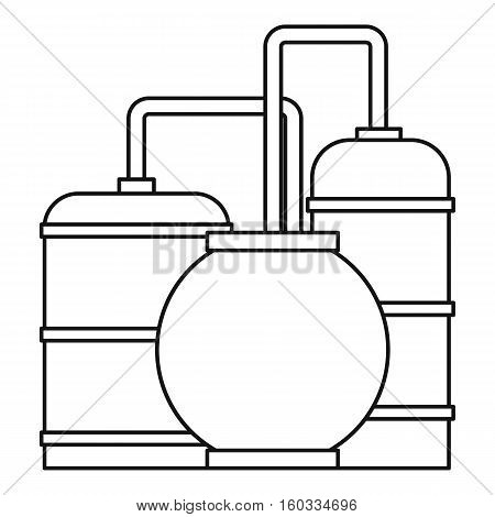 Oil refinery icon. Outline illustration of oil refinery vector icon for webicon. Outline illustration of vector icon for web