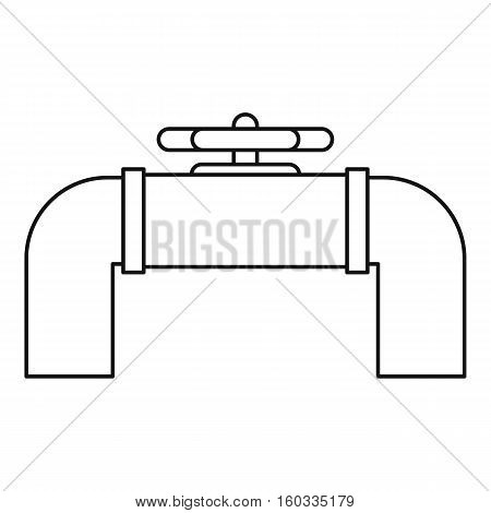 Steel pipeline valve icon. Outline illustration of steel pipeline valve vector icon for webicon. Outline illustration of vector icon for web