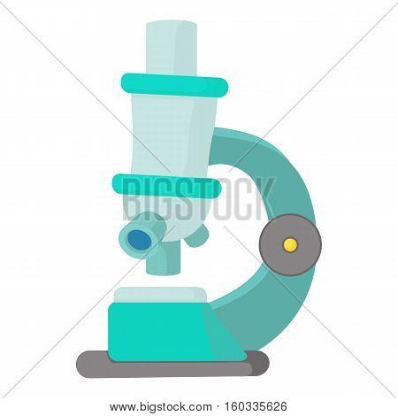 Microscope icon. Cartoon illustration of microscope vector icon for web
