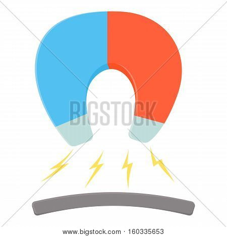 Horseshoe magnet icon. Cartoon illustration of horseshoe magnet vector icon for web