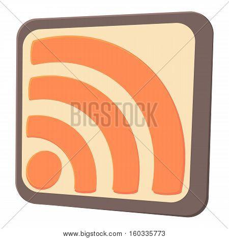 Wireless network sign icon. Cartoon illustration of wireless network sign vector icon for web
