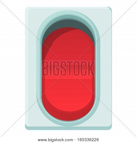 Red switch icon. Cartoon illustration of red switch vector icon for web