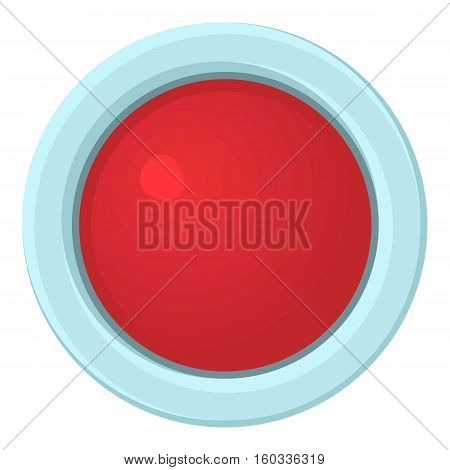 Red stop and panic button icon. Cartoon illustration of red button vector icon for web