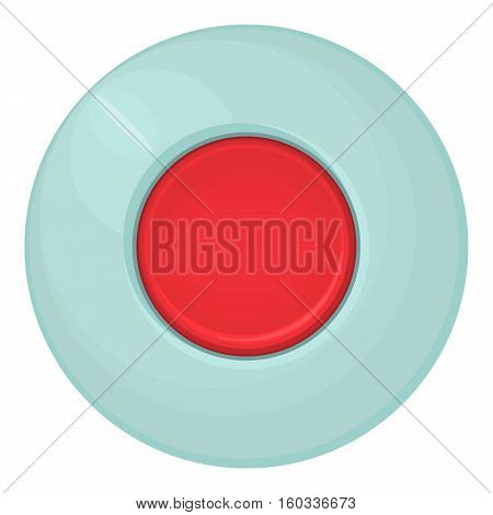 Red round button icon. Cartoon illustration of red round button vector icon for web