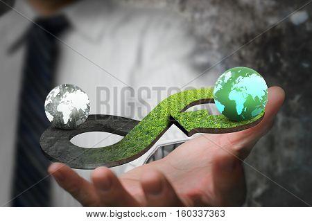 Green Circular Economy Concept