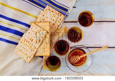 Jewish Holiday Matzoh Jewish Passover Bread Torah