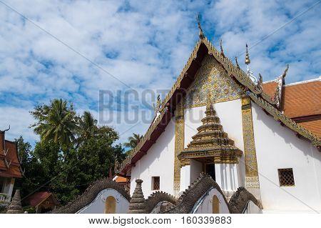 Wat Phumin temple at Nan province, Northern of Thailand.