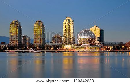Vancouver City, Downtown, Science World museum, Vancouver Harbor