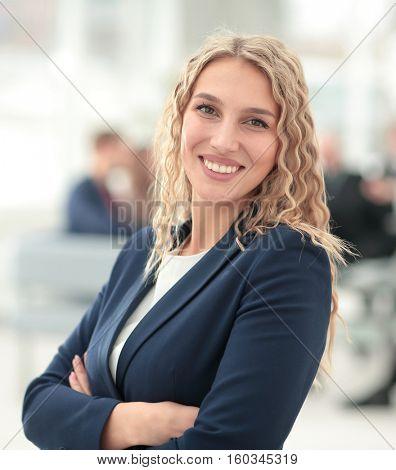 Portrait of happy smiling  business woman