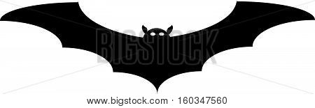 Halloween flying bat Isolated on white background. 10 EPS Vector illustration.