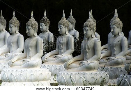 The Stone Statue Of A Buddha At Sa Kaeo; Thailand.