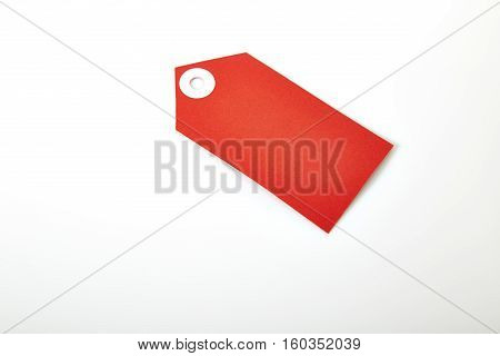 Large Price Tag with Copy Space Isolated on White Background.