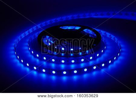 Diode strip. Led lights tape reel