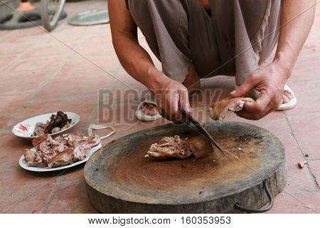 Rat meat, traditional Cambodian, Thai, and Vietnamese food.The rat is a delicacy popular in Southeast Asia, especially in rural areas.