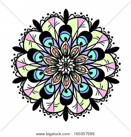 background mandala Indian pattern motif crochet doily