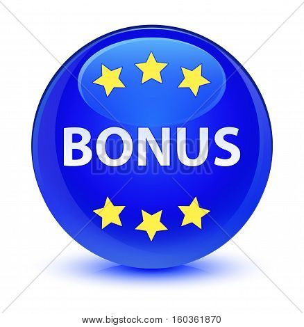 Bonus (stars) Icon Glassy Blue Round Button