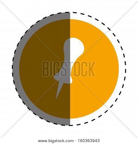 push pin thumbtack icon vector illustration graphic design