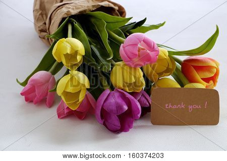 Tulip Flower Bouquet To Happy Mother Day