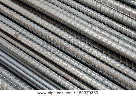 Rebar bending shape in a construction site,steel bar