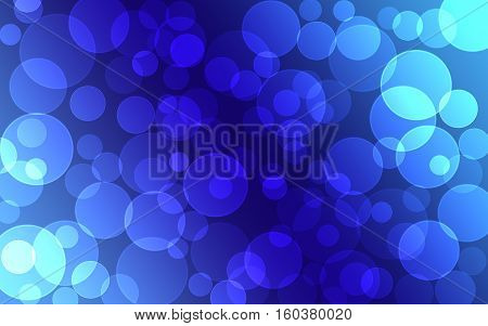 abstract blue Bokeh circles for Christmas background glitter light Defocused and Blurred Bokeh
