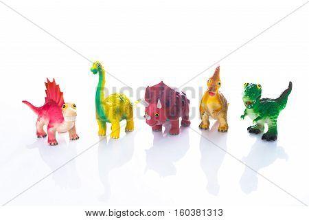 Dinosaur Toy Isolated On White