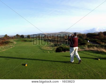 Golfer In Scotland