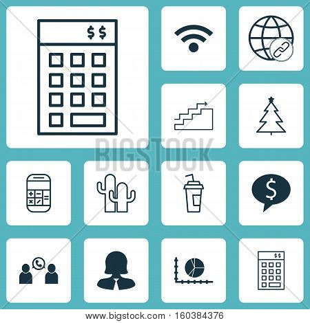 Set Of 12 Universal Editable Icons. Can Be Used For Web, Mobile And App Design. Includes Elements Such As Investment, Connectivity, Business Woman And More.
