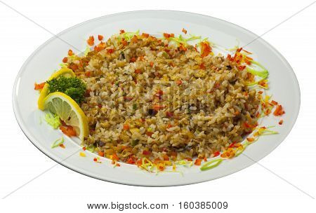 art of cooking food dish low-calorie food white background