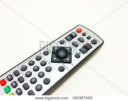 DVD remote control on a white background.