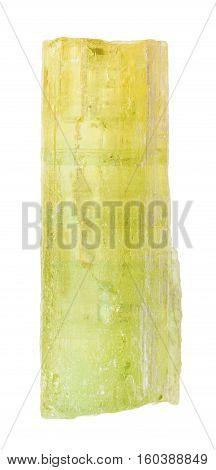 Heliodor (golden Beryl) Crystal Isolated