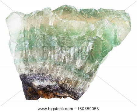 Raw Fluorite Crystals Isolated On White