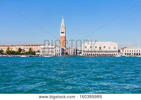 Skyline Of Venice City With Doge's Palace