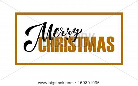 Lettering 'merry Christmas' For Christmas Greeting Card, Invitation Template