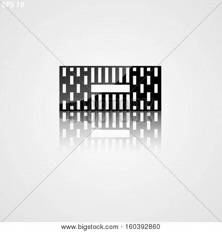 Icon Of A Silhouette Of Hollow Brick On A White Background