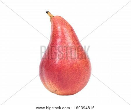 Organic bartlett pear isolated on white background