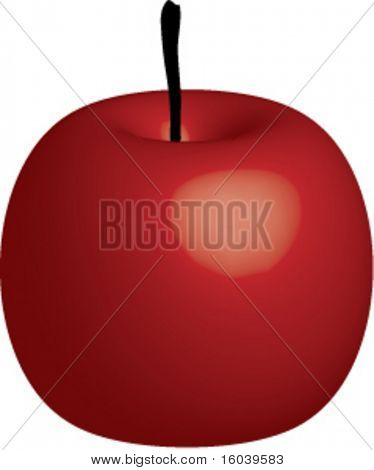 Vector Red Apple