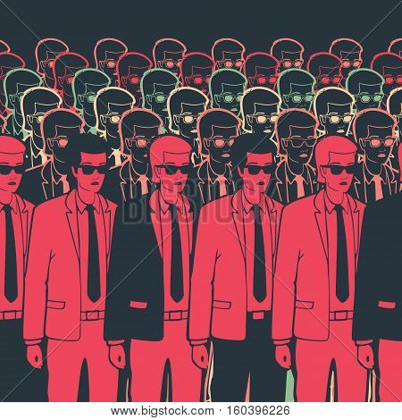 Clone Group businessman vector illustration eps 8 file format