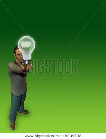 Hi-Res Man holds idea bulb
