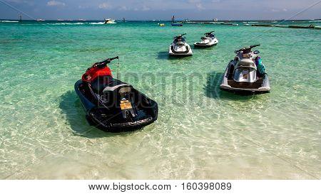 Jet Ski the sea , Pattaya of Thailand