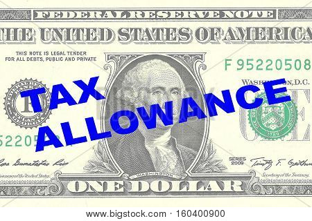 Tax Allowance - Financial Concept
