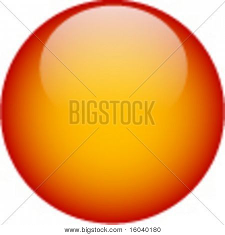 Orange glass web button