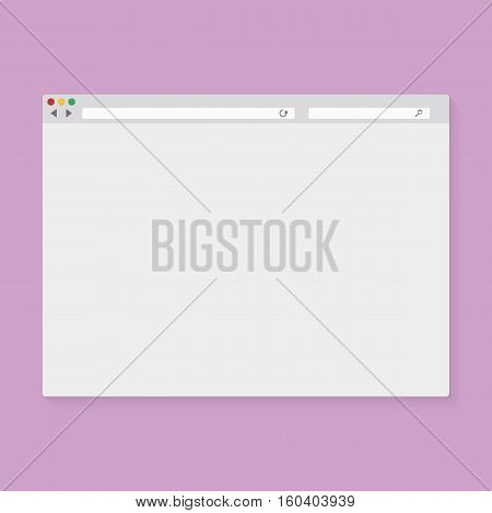 Vector illustration of the browser window. Stock vector