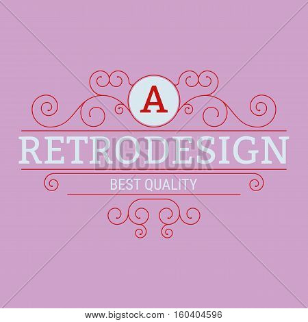 Vector illustration of linear design. Stock vector
