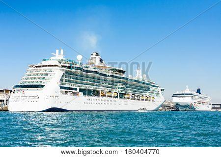 Liners In Venetian Cruise Terminal Port